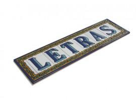 Letra o número Serie Chalet 7,5 x 15 cm.