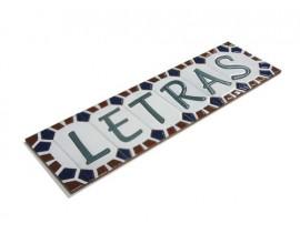 Letra o número Serie Atenas 7,5 x 15 cm.