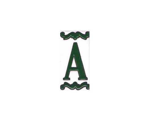 Letra o número Serie Mini Verde 5 x 10 cm.