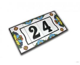 Letra o número Serie Rústica 7,5 x 15 cm.