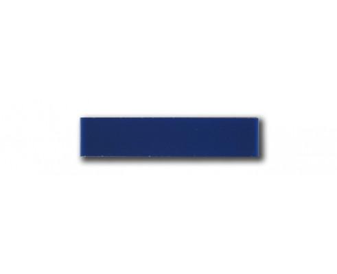 Tira color liso azul 3x14 cm.