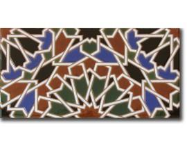 Azulejo árabe pintado a mano fondo F560