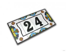 Número Serie Miami 7,5 x 15 cm.