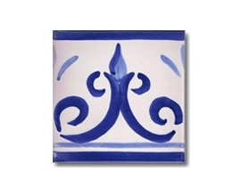 Azulejo pincelado cenefa SV2103